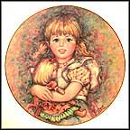 Cherish - artist signed Collector Plate by Mary Vickers