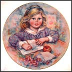 Wistful Collector Plate by Mary Vickers