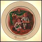 Enjoying The Night Before Christmas Collector Plate