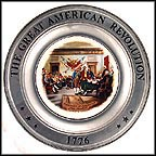The Signing Of The Declaration Of Independence Collector Plate