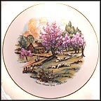 American Homestead Spring Collector Plate by Currier And Ives