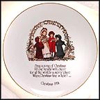Sing A Song Of Christmas Collector Plate by Holly Hobbie