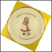 A Mother's Love Is A Precious Gift To Be Treasured Forever Collector Plate by Holly Hobbie