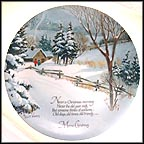 Merry Christmas Collector Plate by Robert Laessig