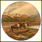 Down The Trail Collector Plate by Hayden Lambson