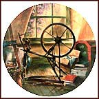 The Antique Spinning Wheel Collector Plate by Maurice Harvey