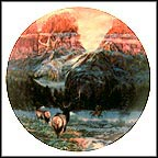 Wintering With The Wapiti Collector Plate by Julie Kramer Cole