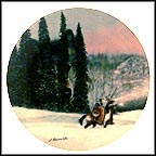 Wolf Ridge Collector Plate by Julie Kramer Cole