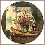 The Morning Bouquet Collector Plate by Glenna Kurz