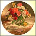 Roses Collector Plate by Vieonne Morley