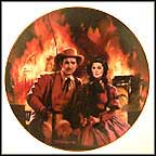 The Burning Of Atlanta Collector Plate by Howard Rogers