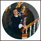 Melanie And Ashley Collector Plate by Howard Rogers