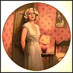 Lana Turner as Cora in The Postman Always Rings Twice Collector Plate by Erik Dzenis