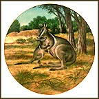 The Bridled Wallaby Collector Plate by Will Nelson