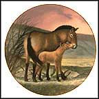 Przewalski's Horse Collector Plate by Will Nelson
