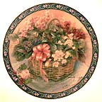 Begonias Collector Plate by Lena Liu