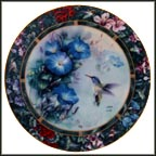 The Violet-Crowned Hummingbird Collector Plate by Lena Liu