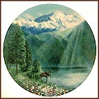 Misty Morning At Mt. McKinley  Collector Plate by Jean Sias
