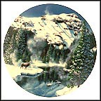 Winter Peace In Yellowstone Park Collector Plate by Jean Sias