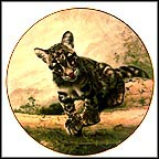 The Clouded Leopard Cub Collector Plate by Charles Fracé