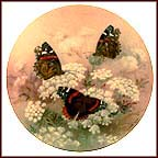 Red Admirals Collector Plate by Lena Liu