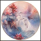 The Egrets Collector Plate by Lena Liu