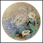 The Swans Collector Plate by Lena Liu