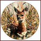 A Jump Into Life: Spring Fawn Collector Plate by Carl Brenders