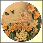 Dancing Daffodils Collector Plate by Lily Chang MAIN