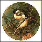 Backyard Treasure: Chickadee Collector Plate by Carl Brenders