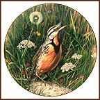 The Meadowlark's Song Collector Plate by Carl Brenders