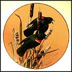 Red-Winged Blackbird Collector Plate by Carl Brenders