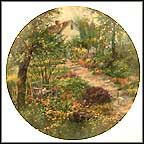 The Cottage Garden Collector Plate by Connie J. Smith MAIN