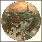 Christmas Eve Collector Plate by Lloyd Garrison