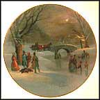 Holiday Skaters Collector Plate by Lloyd Garrison