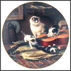String Quartet Collector Plate by Henriette Ronner
