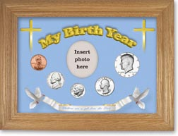 1979 'Children are a Gift from the Lord' My Birth Year Coin Gift Set with a blue background and wheat frame THUMBNAIL