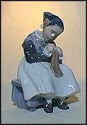 Girl Knitting, Royal Copenhagen Figurine #1314