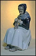 Knitting Woman, Royal Copenhagen Figurine #1317