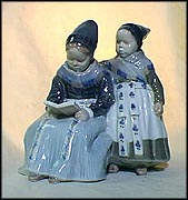 Two Girls, Royal Copenhagen Figurine #1395