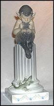 Faun On Column with Lizard, Royal Copenhagen Figurine #433r