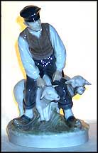 Farmer With Sheep, Royal Copenhagen Figurine #627 MAIN