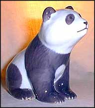 Panda Sitting, Royal Copenhagen Figurine #663