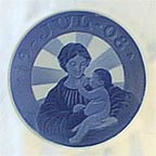 Madonna And Child Collector Plate by Ingrid Jensen MAIN