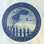 Danish Landscape Collector Plate by Oluf Jensen