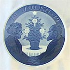 Elderly Couple By Christmas Tree Collector Plate by Oluf Jensen