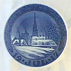 Tower Of Our Savior's Church, Copenhagen Collector Plate by Oluf Jensen
