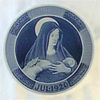 Mary With The Child Jesus Collector Plate by Oluf Jensen