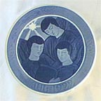 Three Singing Angels Collector Plate by Ellinor Selschau