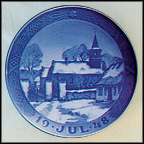 Nodebo Church At Christmastime Collector Plate by Oluf Jensen MAIN